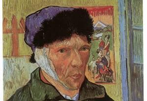 Autoretrato de Van Gogh após cortar uma de suas orelhas: artista é um dos muitos exemplos de pessoas que caminharam entre a genialidade e a loucura Foto: Reprodução