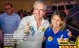 Eduardo Cunha posa para foto com Solange Almeida, na campanha de 2014