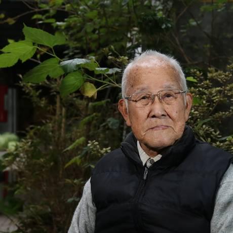 Takashi Morita, 91 anos, presenciou a destruição em Hiroshima. Anos depois, foi para São Paulo, onde vive até hoje Foto: Fernando Donasci