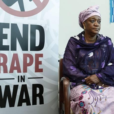 Enviada da ONU, Zainab Bengura, denunciou a violência sexual do EI contra mulheres capturadas Foto: KENA BETANCUR / AFP