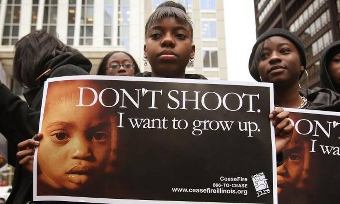 Camapanha contra a violência em Chicago Foto: / Divulgação/sheddlight.org