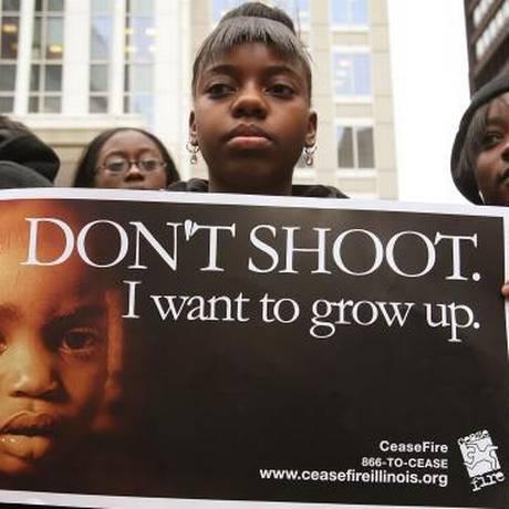 Camapanha contra a violência em Chicago Foto: Divulgação/sheddlight.org