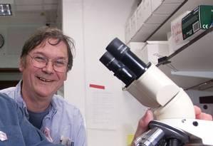 Hunt foi premiado em 2001 pelo seu trabalho sobre a forma como as células se dividem Foto: Stephen Hird