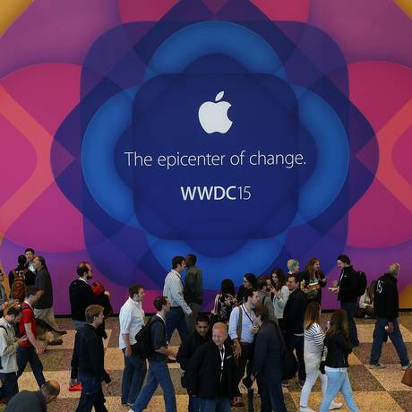 Lançamento do Apple Music em São Francisco, na última segunda-feira Foto: JUSTIN SULLIVAN / AFP