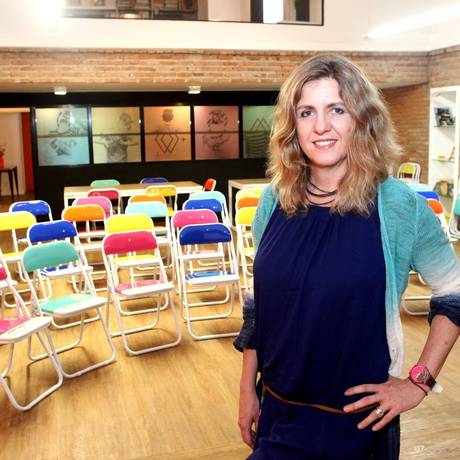 Clarissa Biolchini é responsável por implantar cursos na instituição, que foi inaugurada há um mês Foto: Agência O Globo / Angelo Antônio Duarte