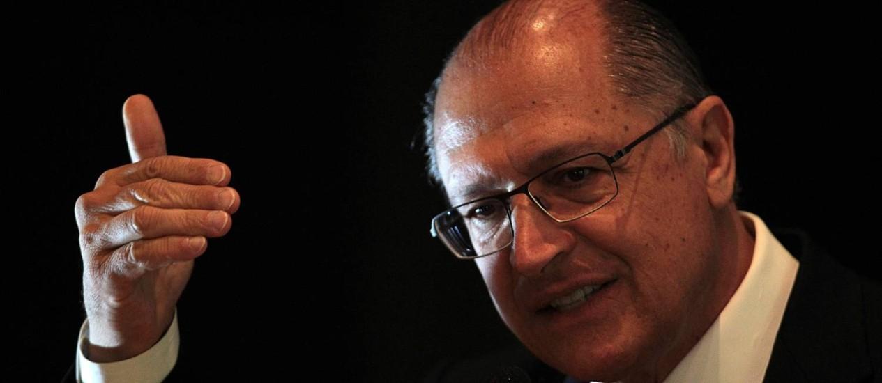 Governador de São Paulo, Geraldo Alckmin Foto: Jorge William / Agência O Globo