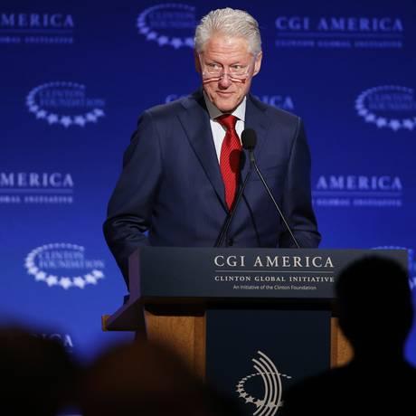 Bill Clinton no encontro anual da Clinton Global Initiative America, nesta quarta-feira Foto: Brennan Linsley / AP