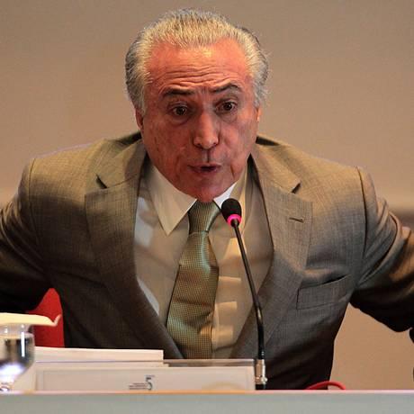 O vice-presidente da República, Michel Temer Foto: Jorge William / Agência O Globo