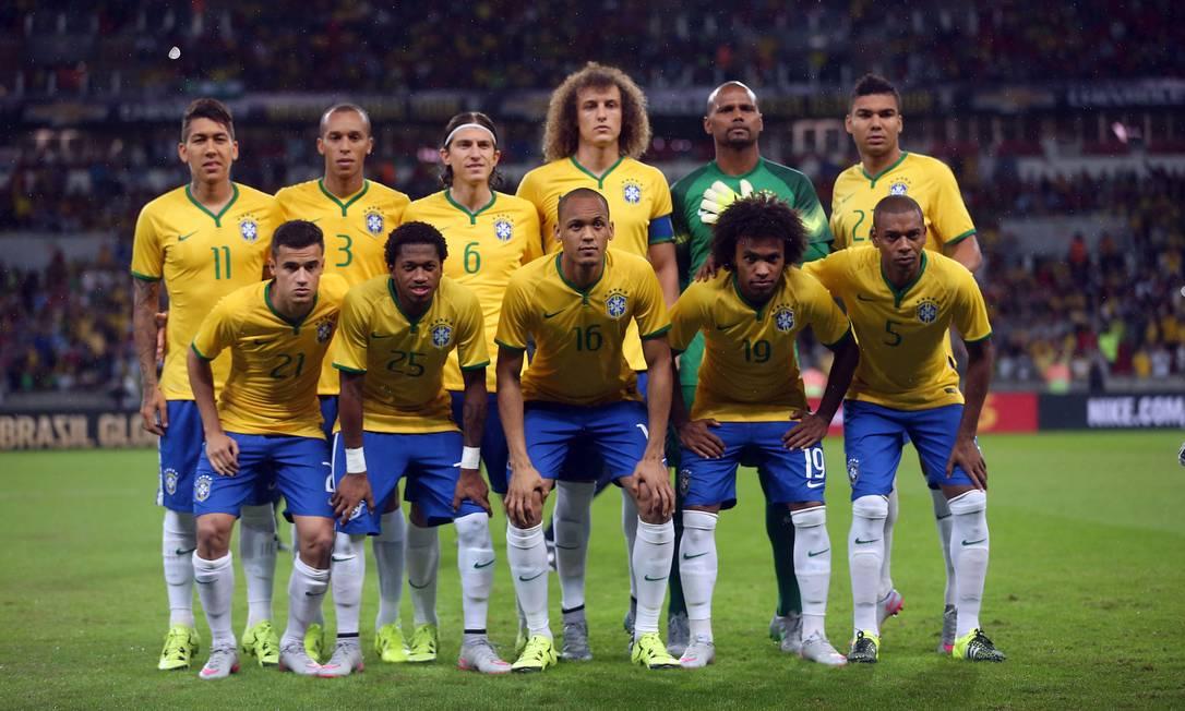 Os titulares da seleção brasileira nesta quarta-feira JEFFERSON BERNARDES / AFP