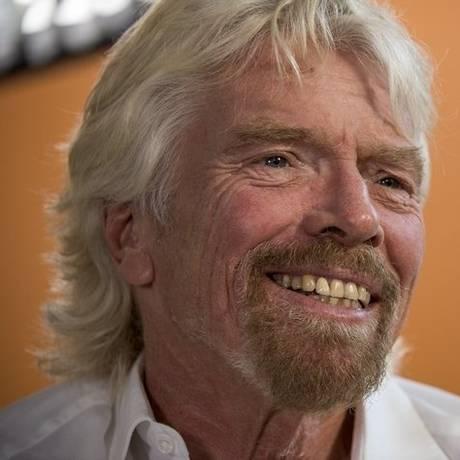 """Branson. """"Se você cuida de seus empregados, eles cuidarão de seu negócio"""" Foto: David Paul Morris / David Paul Morris/Bloomberg/23-4-2015"""
