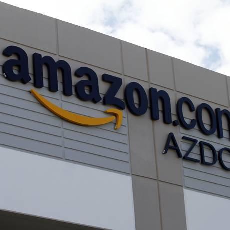 Logomarca da Amazon no centro de distribuição de Phoenix Foto: JOSHUA LOTT/11-11-2010 / Bloomberg News