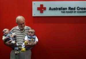 James Harrison, de 78 anos, o salvador de bebês Foto: Cruz Vermelha Australiana