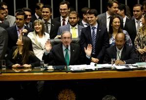 Eduardo Cunha comanda votação de reforma política na Câmara Foto: Ailton de Freitas / Agência O Globo