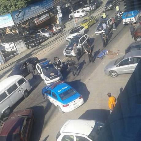 Estrada do Tindiba opera em sistema pare e siga, após suspeito morrer no local Foto: Divulgação / Jardel Costa