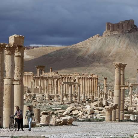 A cidade síria de Palmira já foi um destino procurado por turistas, até ser invadida pelo Estado Islâmico Foto: JOSEPH EID / AFP