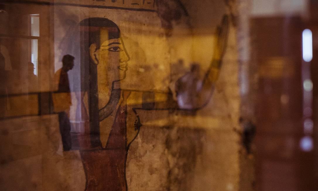 Relíquias egípcias alimentavam histórias entre funcionários Foto: Fernando Lemos / Agência O GLOBO