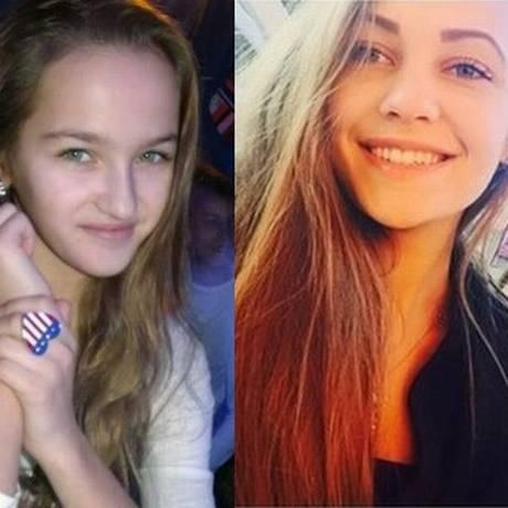 Olesya Belmasova e Anastasiya Kirillova foram eletrocutadas ao tentarem tirar selfie em trem, na Rússia Foto: Reprodução/VK