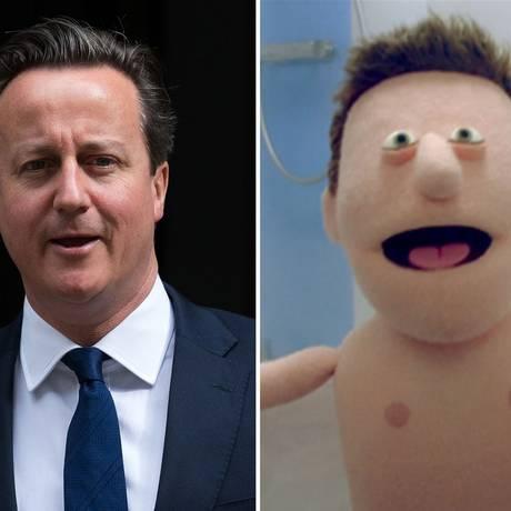 Primeiro-ministro britânico, David Cameron, é comparado a fantoche de propaganda televisiva Foto: Youtube