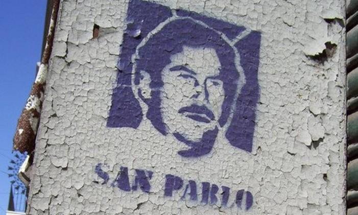 Grafite de Escobar em Medellín Foto: Reprodução