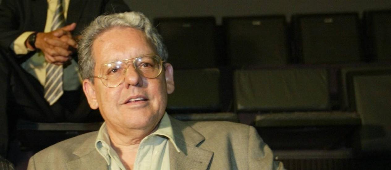 Fernando Brant, compositor e parceiro de Milton Nascimento, que morreu em Belo Horizonte Foto: Ailton de Freitas / Agência O Globo (08.03.2006)