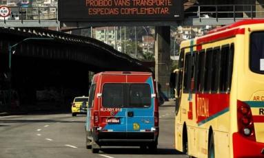 Fiscalização de vans será feita pela Seop Foto: Gabriel de Paiva / Agência O Globo