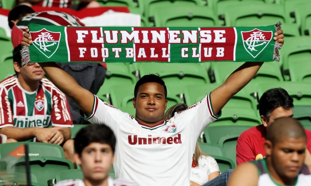 Torcedor do Fluminense presente ao estádio em São Paulo Michel Filho / Agência O Globo