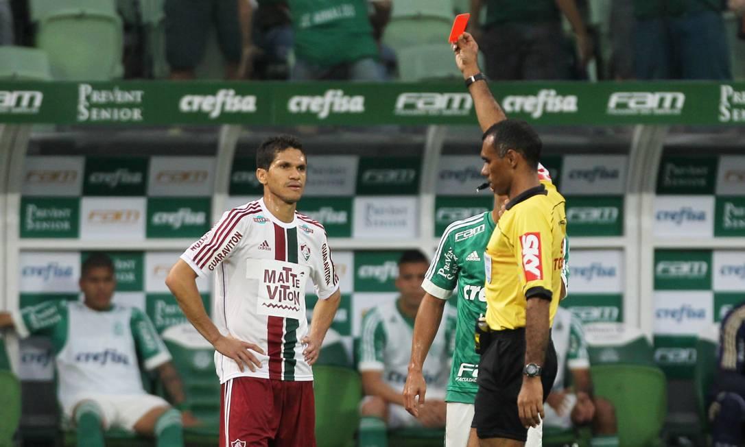 Magno Alves foi expulso no segundo tempo Michel Filho / Agência O Globo