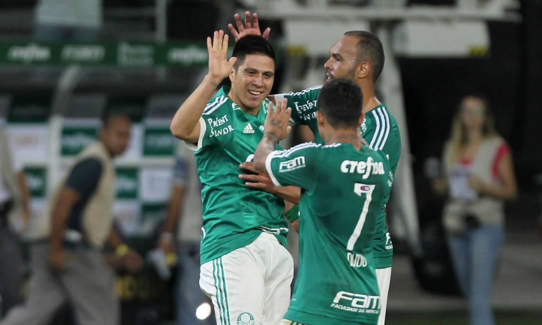 Cristaldo marcou o gol da virada do Palmeiras sobre o Fluminense já nos acréscimos Michel Filho / Agência O Globo