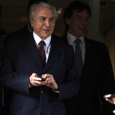 O vice-presidente, Michel Temer Foto: Jorge William/ Agência O Globo