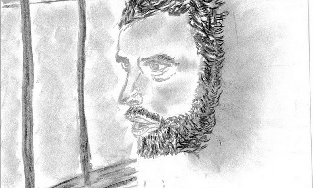 Autorretrato de Leopoldo López feito na prisão militar de Ramo Verde Foto: Arquivo pessoal / Arquivo pessoal