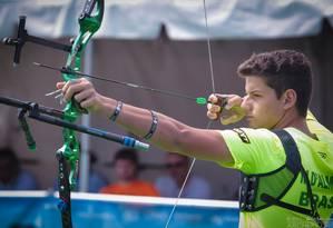 Marcus Vinicius D'Almeida, campeão mundial júnior de tiro com arco, nos Estados Unidos Foto: Divulgação