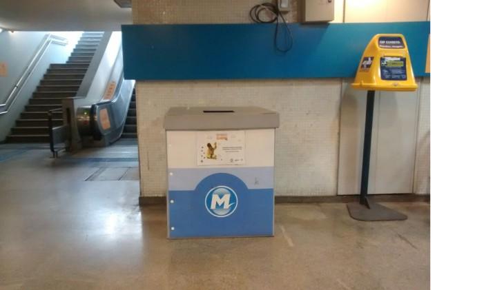 Um dos postos de arrecadação da estação do metrô de Botafogo Foto: Divulgação