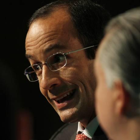 O empresário Marcelo Obebrecht (foto), observado pelo ministro Rodrigo Azeredo Foto: Michel Filho / Agência O Globo