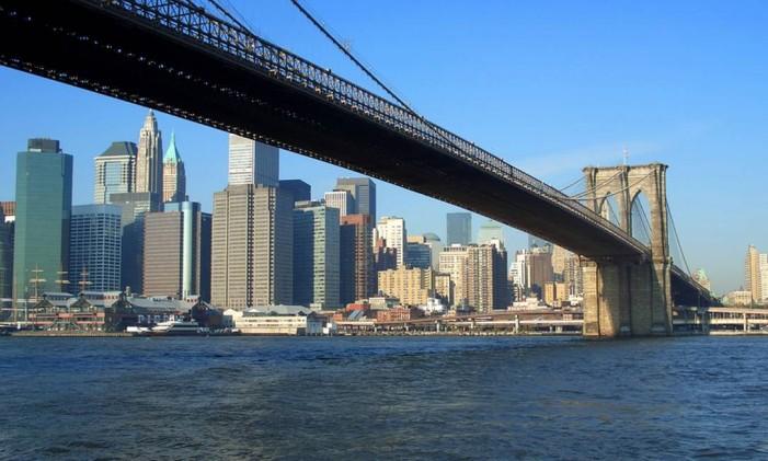 Brooklyn Bridge, em Nova York Foto: Agência O Globo