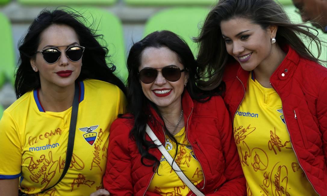 Apesar da derrota, esse trio de equatorianas fez bonito em Valparaíso Luis Hidalgo / AP