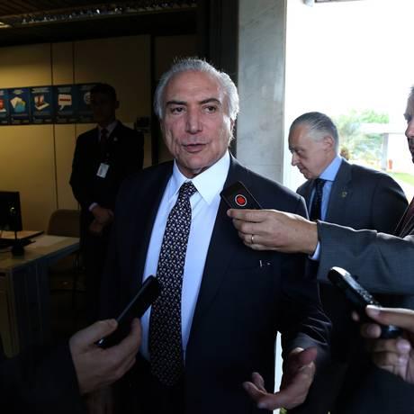 O vice-presidente da República, Michel Temer Foto: Ailton de Freitas / Agência O Globo