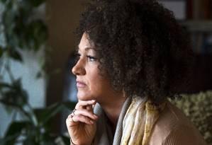 A ativista Rachel Dolezal em foto de 2 de março de 2015 Foto: Colin Mulvany / AP