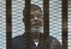 Mursi: condenação à morte é mantida Foto: KHALED DESOUKI / AFP