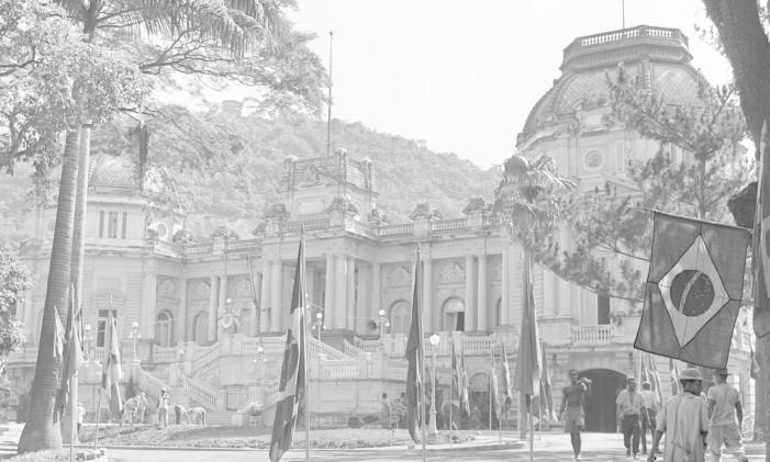 Palácio Guanabara em 1960, quando passou a ser sede do governo do estadual Foto: Arquivo / Agência O Globo