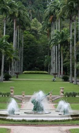 Jardins do Palácio Guanabara, que originalmente fazia parte de um sítio na região das Laranjeiras Foto: Carlos Ivan / Agência O Globo