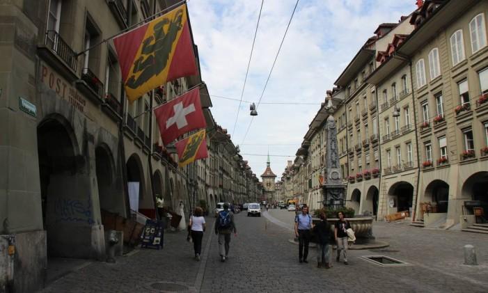 Cidade histórica de Berna, capital da Suíça Foto: Eduardo Maia / Agência O Globo