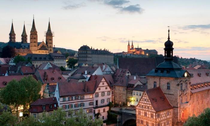 Centro histórico de Bamberg, na Alemanha, tombado pela Unesco Foto: Divulgação