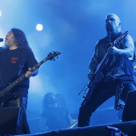 O Slayer, em show no Rock in Rio de 2013 Foto: Ivo Gonzalez / Agência O Globo
