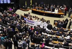 Deputados debatem no Plenário da Câmara Foto: GUSTAVO LIMA / Agência Câmara - 16/06