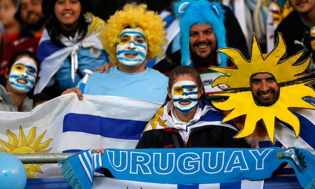 Torcedores uruguaios demonstram confiança na seleção Andre Penner / AP