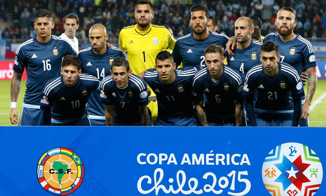 O time argentino posado antes do jogo Andre Penner / AP