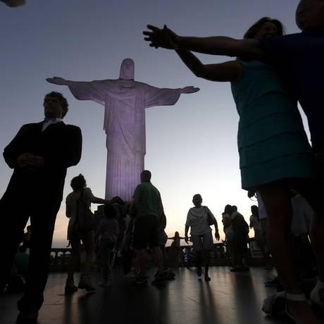 Cristo Redentor: preço de atrações é o terceiro mais alto do mundo Foto: Custódio Coimbra / O Globo