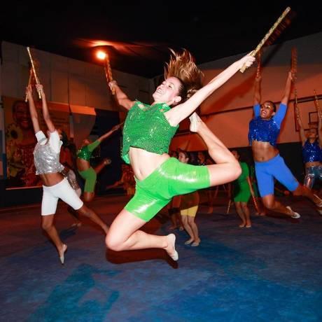 Ginastas do Clube Renascença preparam coreografia para o evento internacional Foto: Agência O Globo / Bárbara Lopes