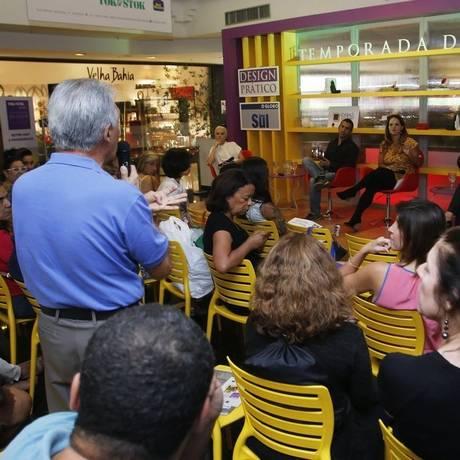 Evento. Público participou do bate-papo na última quinta-feira Foto: Divulgação / Reinaldo Pimenta