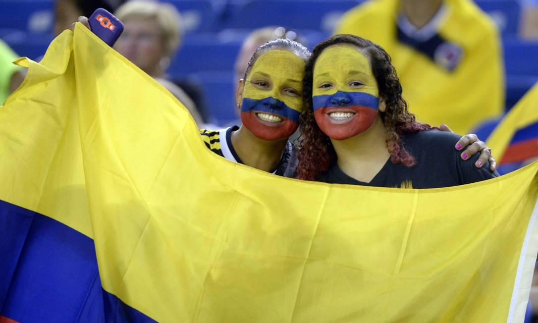 A dupla colombiana mostrou confiança antes do jogo Paul Chiasson / AP